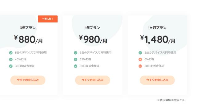 Millen VPN 料金